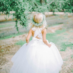 Flower Girl Dress With Lace Crisscross Straps