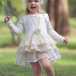 Short White Vintage Inspired Flower Girl Dress