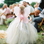 Tulle Flower Girl Dress With Fairy Wings