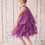 Plum Colored Flower Girl Dress