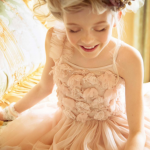 Soft Pink Flower Girl Dress With Florals