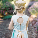 Baby Blue Flower Girl Dress With Cutout Back