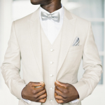 Groom Suits - White Waistcoat