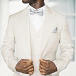 Groom Suits - White Waistcoat