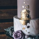 Wedding Cake Trends - Gold Foil