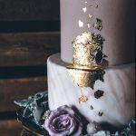 Wedding Cake Trends - Gold Foil