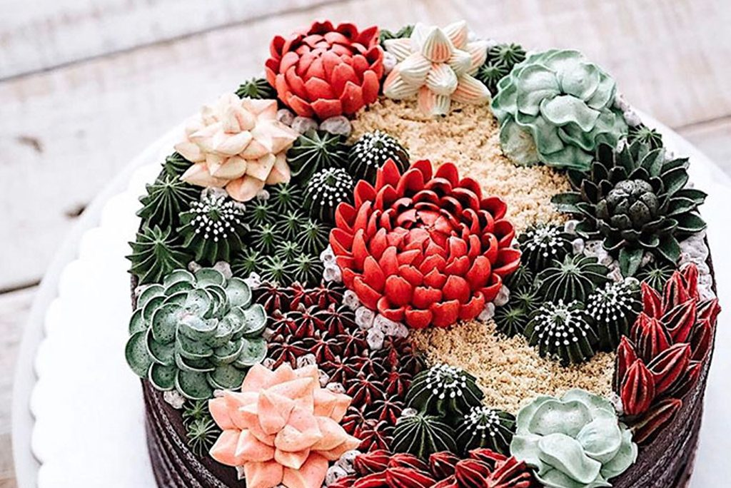 Wedding Cakes - Succulents