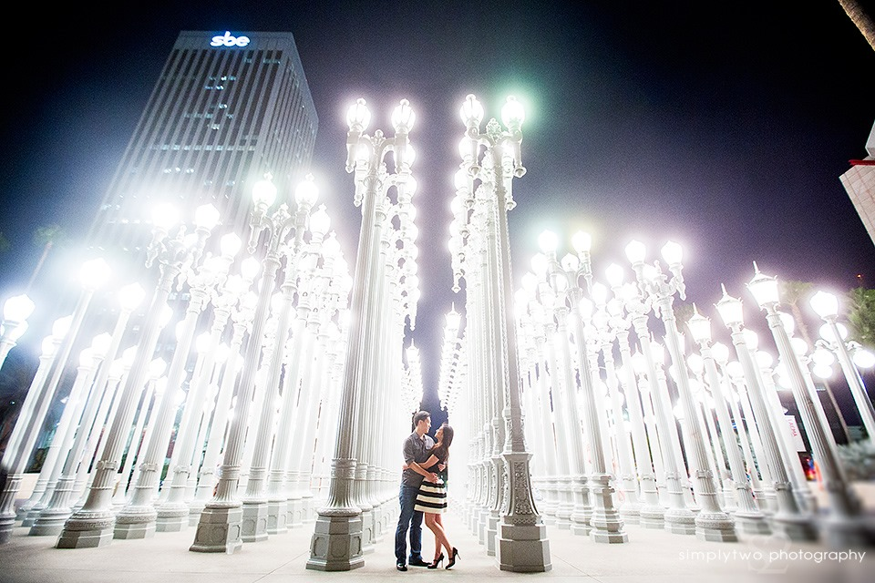 Urban Light - Engagement Photos In Los Angeles