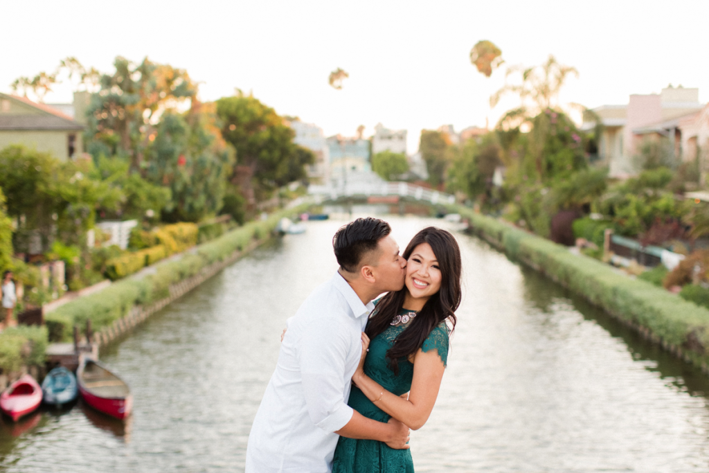 venice canals engagement photo - top engagement photo locations in los angeles