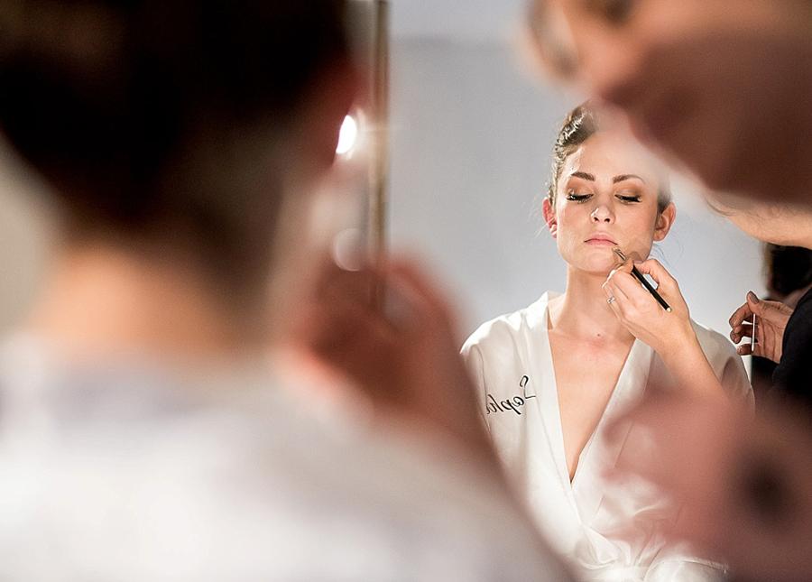 Embarrassing Bridal Questions - Bride Having Makeup Put On