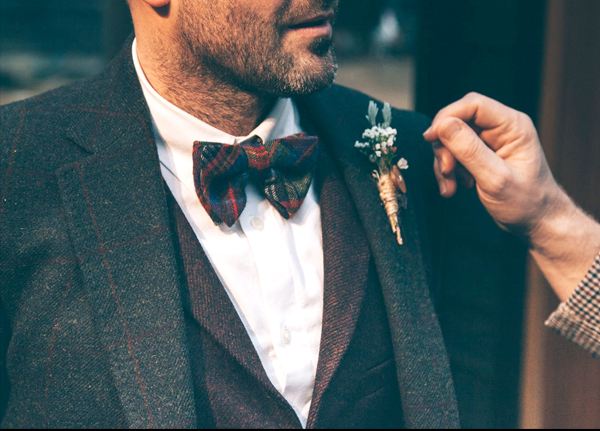 Best Man Speech - Man In Suit Bow Tie And Rustic Boutonniere