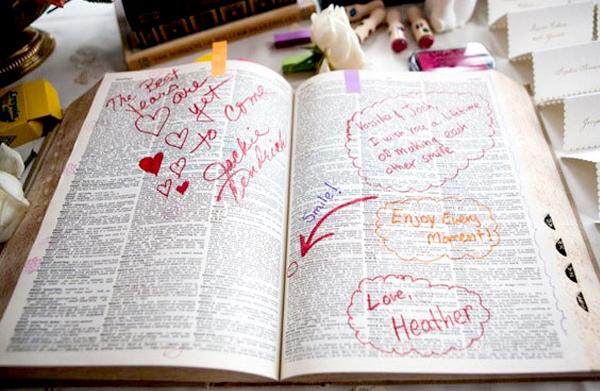 Wedding Guest Book Ideas - Dictionary Wedding Guest Book