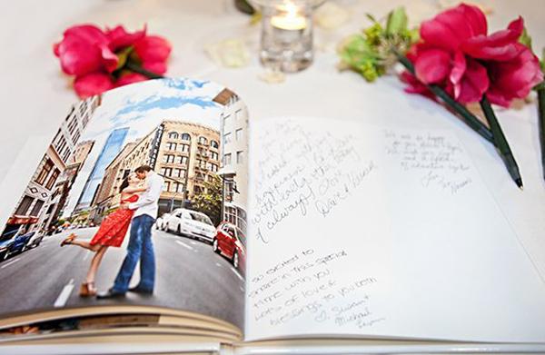 Wedding Guest Book Ideas - Engagement Shoot Wedding Guest Book