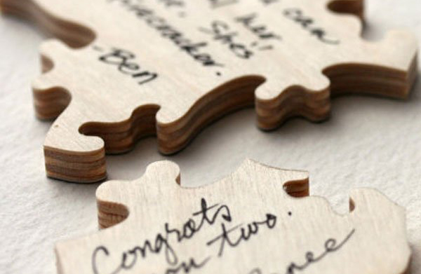 Wedding Guest Book Ideas - Puzzle Piece Wedding Guest Book