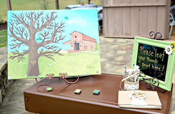 Wedding Guest Book Ideas - Thumb Print Wedding Guest Book