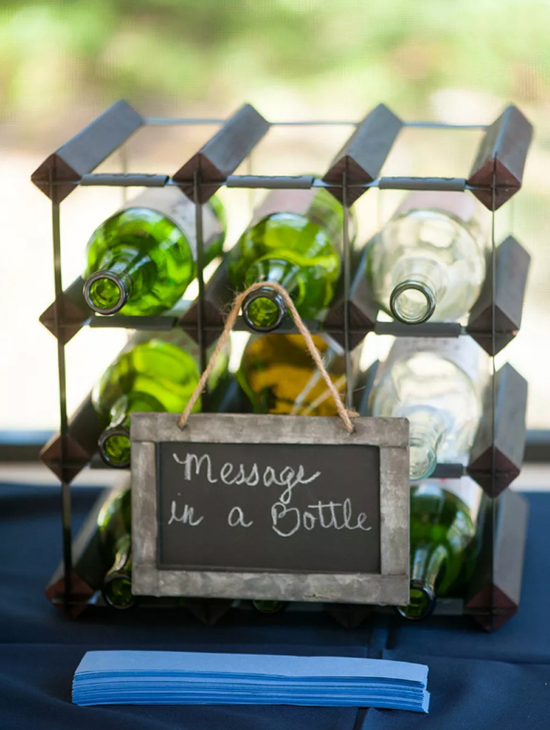 Wedding Signs - Message In A Bottle Chalkboard Wedding Sign