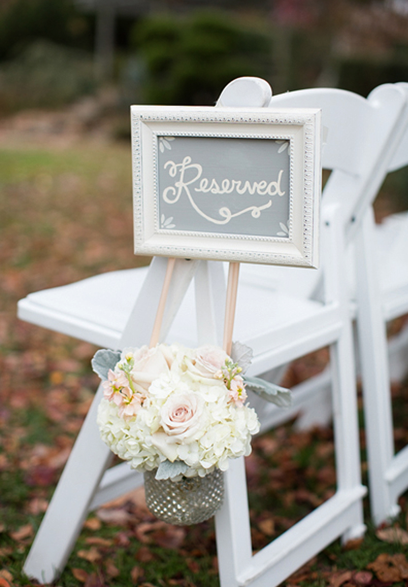 Wedding Signs - Reserved Seating Chalkboard Sign On Chair