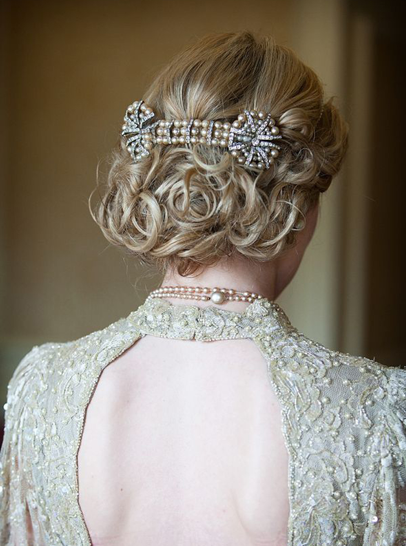 Granny Chic Wedding - Antique Bridal Hairstyle